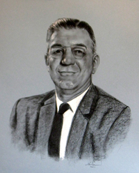 CHARCOAL PORTRAIT OF A MAN